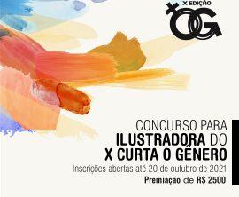 Concurso seleciona ilustradora para o X Curta o Gênero edição 2022. Inscrições até 20 de outubro