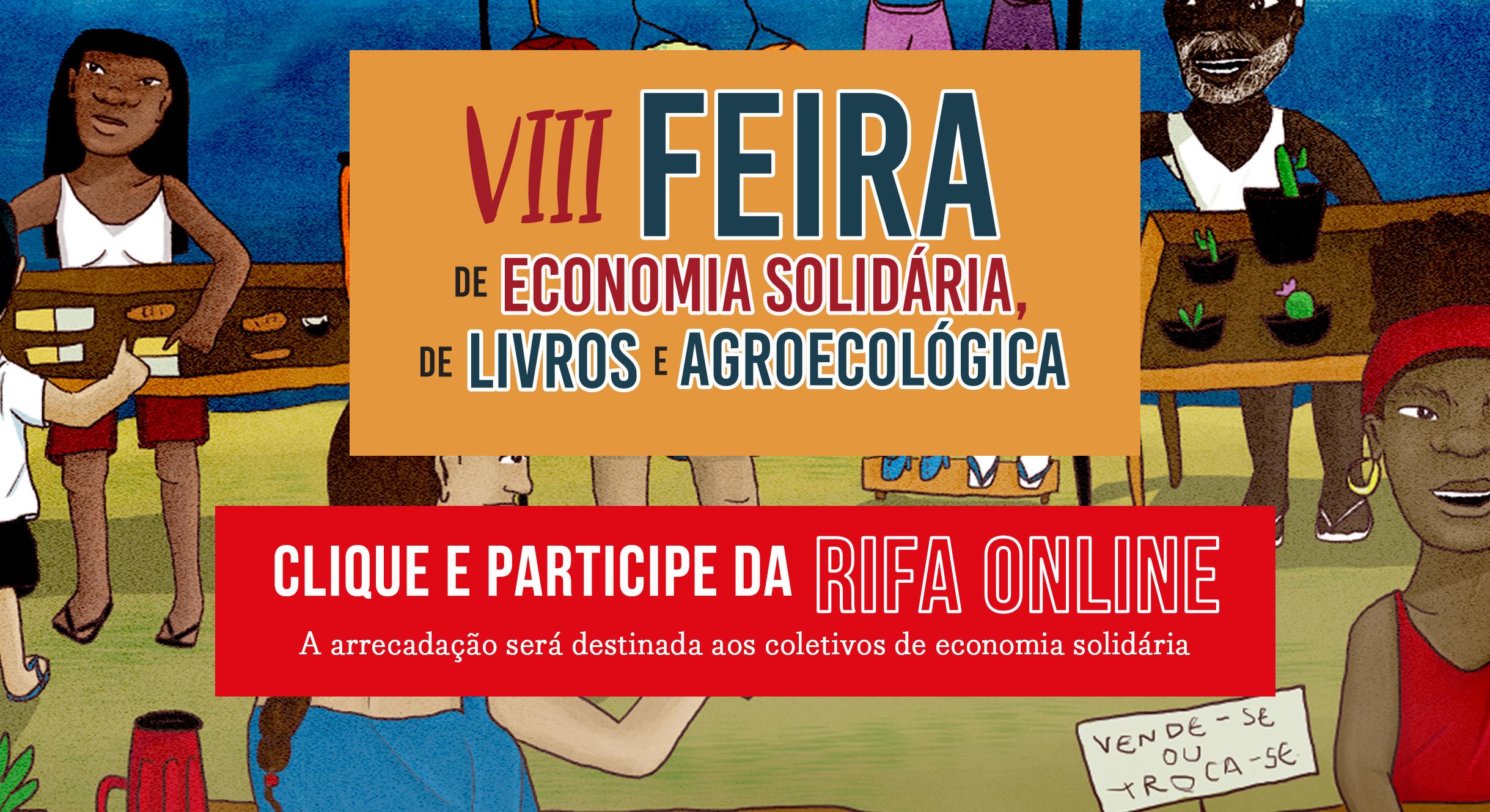RIFA ONLINE: VII Feira de Economia Solidária de Livros e Agroecológica